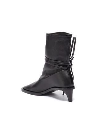 - JIL SANDER - Structure Heel Ankle Wrap Tie Boots