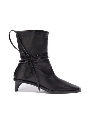 Main View - Click To Enlarge - JIL SANDER - Structure Heel Ankle Wrap Tie Boots