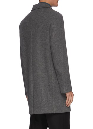 Back View - Click To Enlarge - EQUIL - Single Breast Notch Lapel Wool Coat