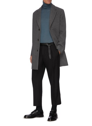 Figure View - Click To Enlarge - EQUIL - Single Breast Notch Lapel Wool Coat