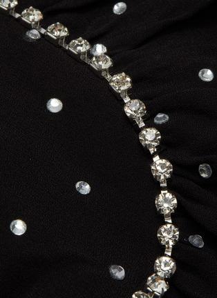- SELF-PORTRAIT - Crystal Embellished Polka Dot Off-shoulder Mini Dress