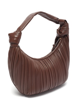 Detail View - Click To Enlarge - NEOUS - 'Neptune' pleated leather hobo bag