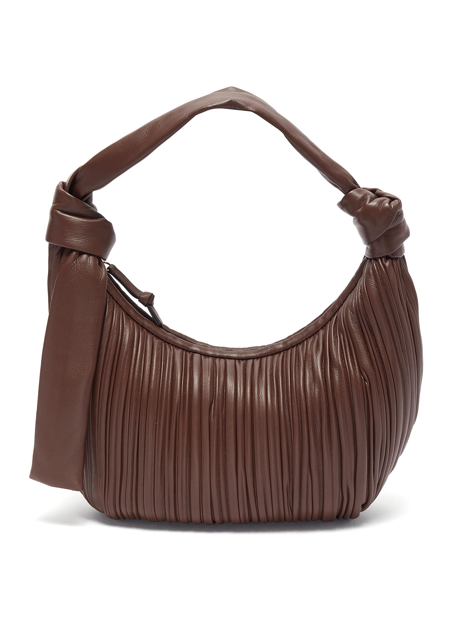 Neous 'NEPTUNE' PLEATED LEATHER HOBO BAG