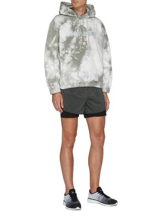 Figure View - Click To Enlarge - SATISFY - Trail Long Distance Three Inch Leopard Print Underlay Shorts