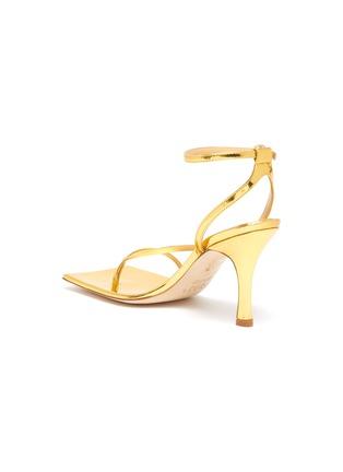 - A.W.A.K.E. MODE - DELTA' Asymmetric Strap Square Toe Heeled Sandals