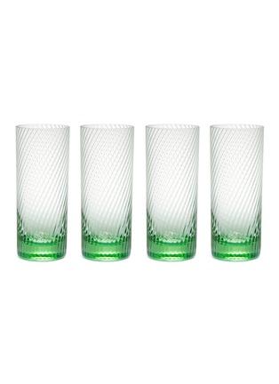 Main View - Click To Enlarge - PETERSHAM NURSERIES - Spiral Highball Glass Set