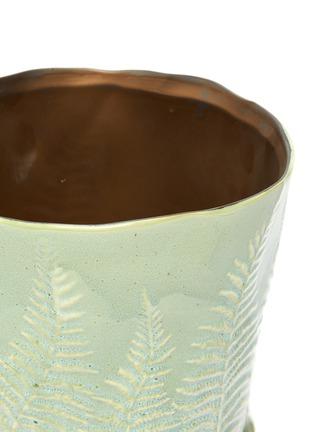 Detail View - Click To Enlarge - PETERSHAM NURSERIES - The Fern Large Vase – Green
