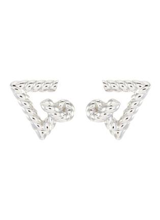 Main View - Click To Enlarge - LAYCIGA - Triangular knot stud earrings