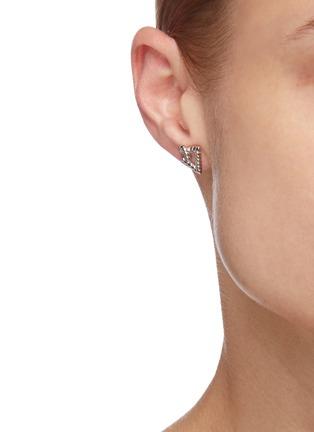 Figure View - Click To Enlarge - LAYCIGA - Triangular knot stud earrings