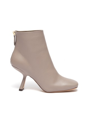 Main View - Click To Enlarge - NICHOLAS KIRKWOOD - Alba' angle heel leather ankle boots