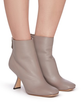 Figure View - Click To Enlarge - NICHOLAS KIRKWOOD - Alba' angle heel leather ankle boots