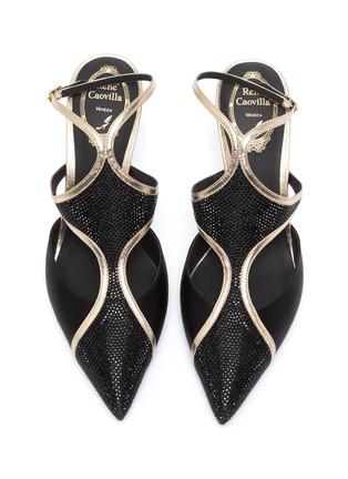 Detail View - Click To Enlarge - RENÉ CAOVILLA - Peggy Guggenheim 'Eyewear' embellished slingback pumps