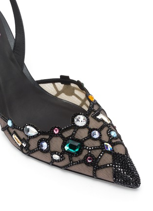 Detail View - Click To Enlarge - RENÉ CAOVILLA - Peggy Guggenheim 'Museum Door' embellished slingback pumps