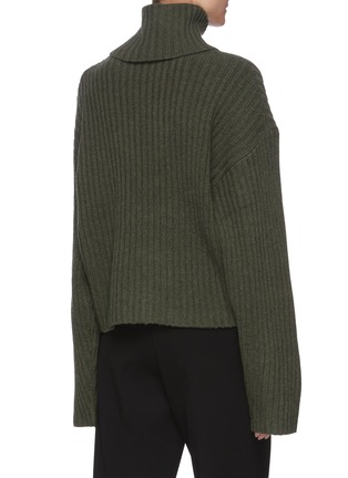 Back View - Click To Enlarge - REMAIN - 'Francine' rollup turtleneck rib knit sweater