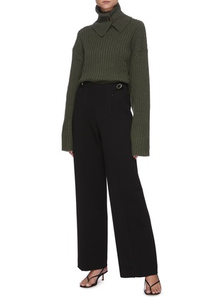 Figure View - Click To Enlarge - REMAIN - 'Francine' rollup turtleneck rib knit sweater