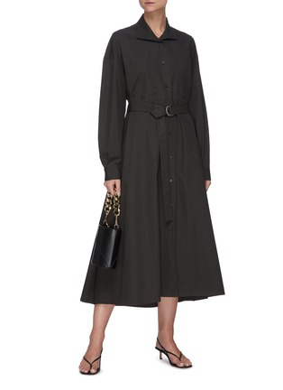 Figure View - Click To Enlarge - REMAIN - 'Mezzo' belted shirt dress