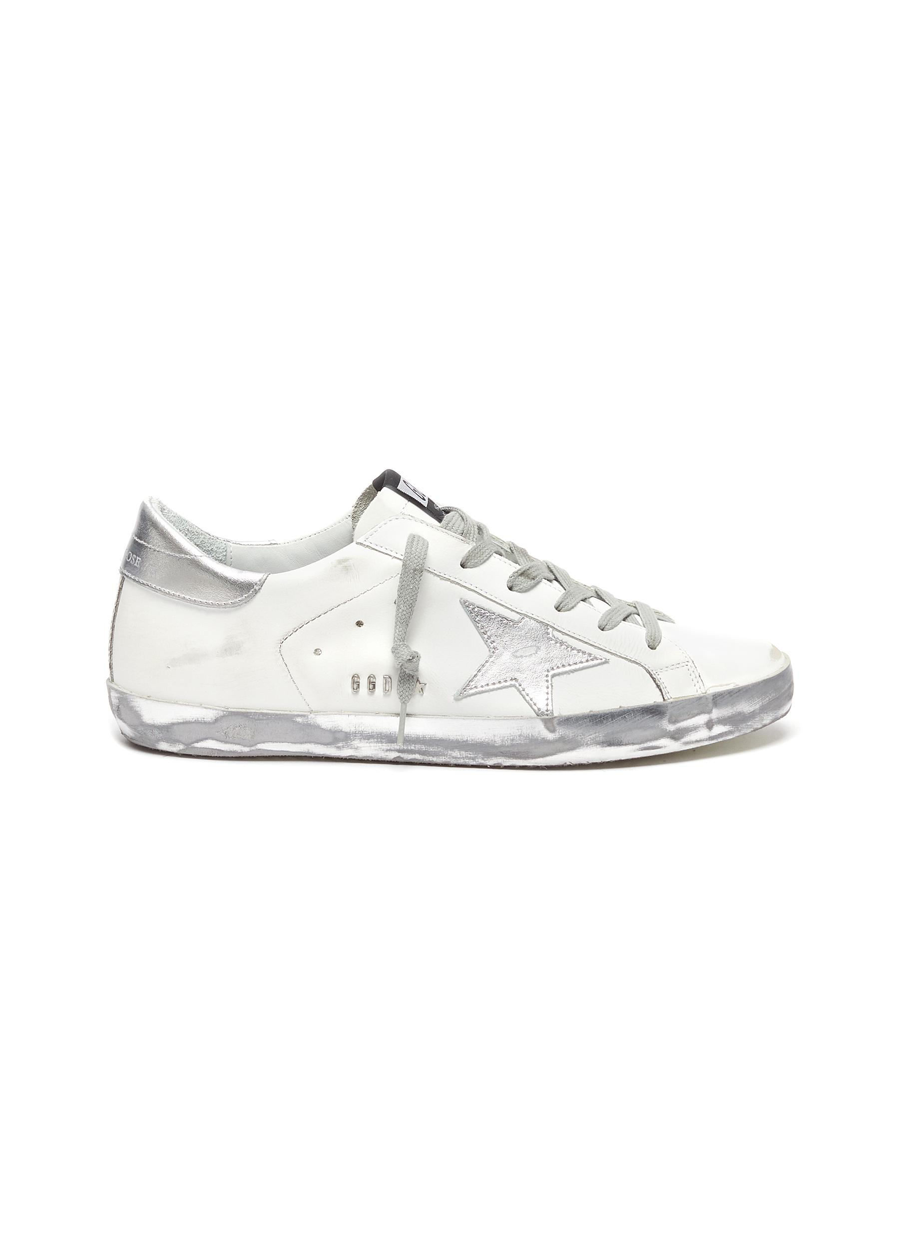'Superstar' silver accents sneakers