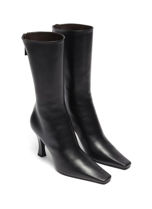 Detail View - Click To Enlarge - THE ROW - 'Office' Square Toe Leather Boots
