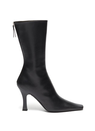 Main View - Click To Enlarge - THE ROW - 'Office' Square Toe Leather Boots