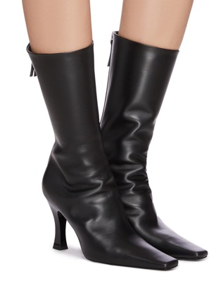 Figure View - Click To Enlarge - THE ROW - 'Office' Square Toe Leather Boots