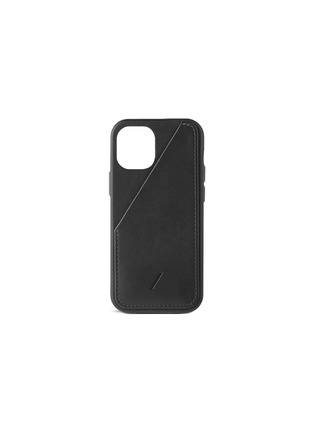 Main View - Click To Enlarge - NATIVE UNION - CLIC Card iPhone 12 Mini Leather Case — Black