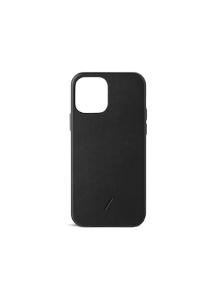 Main View - Click To Enlarge - NATIVE UNION - CLIC Classic iPhone 12 Leather Case — Black