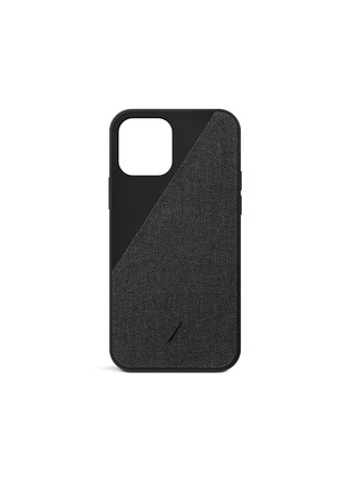 Main View - Click To Enlarge - NATIVE UNION - CLIC Canvas iPhone 12 Pro Max Case — Black