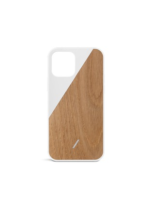 Main View - Click To Enlarge - NATIVE UNION - Clic wooden iPhone 12 Pro Max case – White