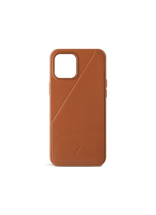 Main View - Click To Enlarge - NATIVE UNION - Clic Card iPhone 12 Pro Max case – Tan