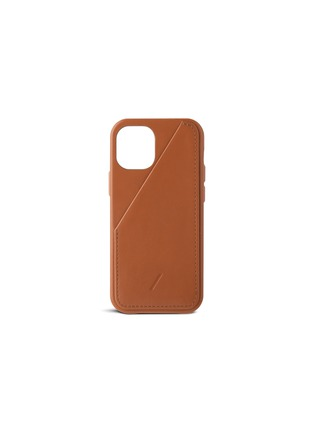 Main View - Click To Enlarge - NATIVE UNION - Clic Card iPhone 12 mini case – Tan