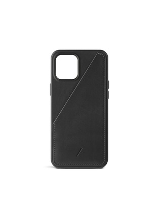 Main View - Click To Enlarge - NATIVE UNION - CLIC Card iPhone 12 Pro Max Leather Case — Black