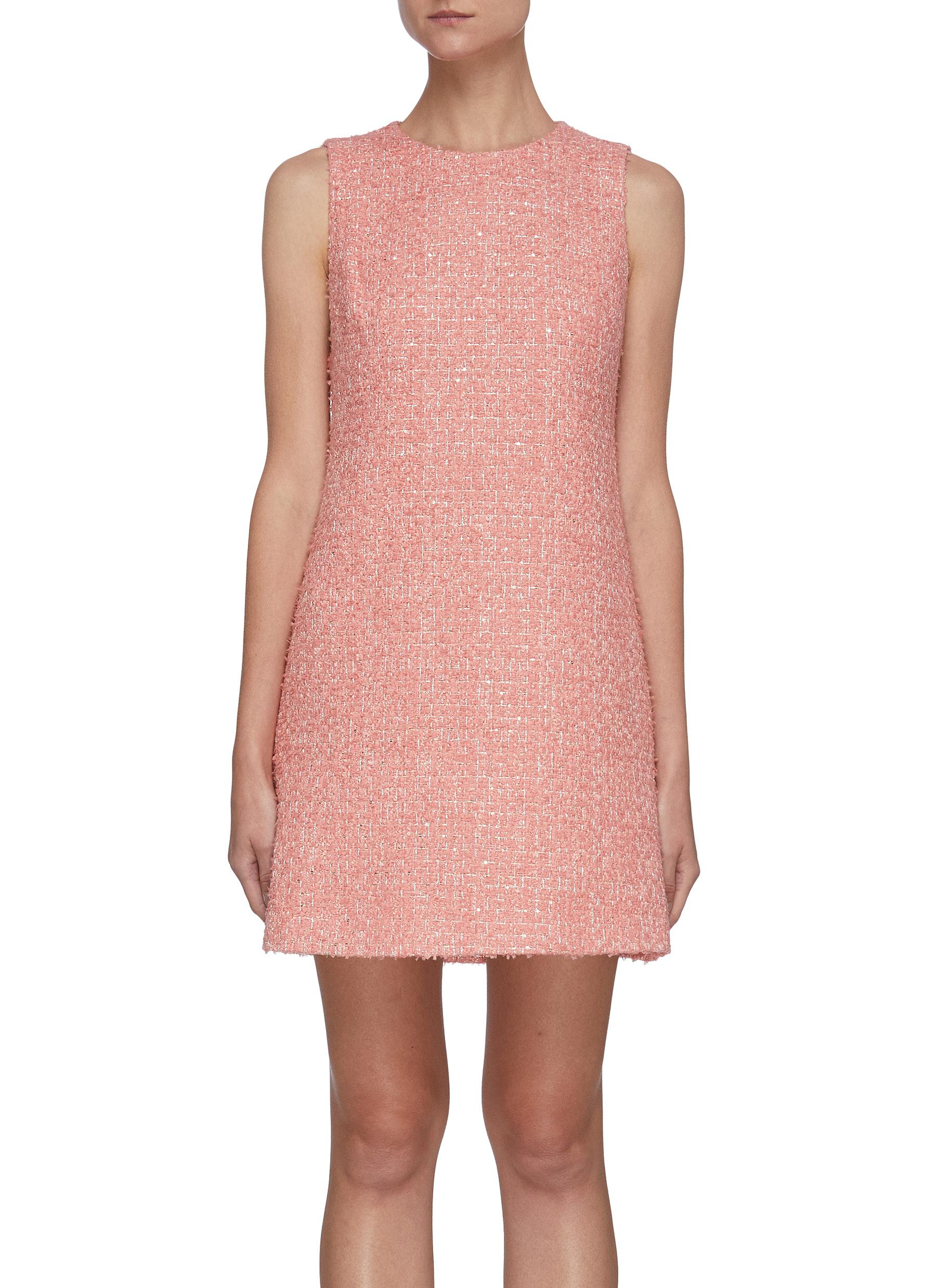 COLEY' Tweed Crewneck A-Line Mini Dress - ALICE + OLIVIA - Modalova