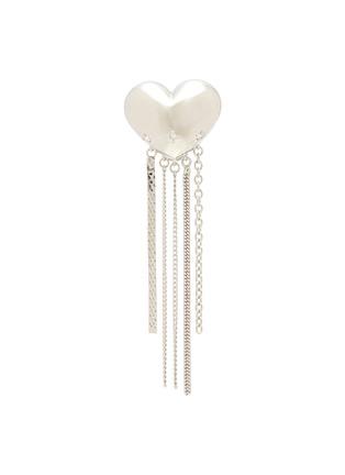 Main View - Click To Enlarge - YVMIN - 'ElectronicGirl' Mechanical heart-shaped zirconia tassel earrings