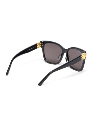 Figure View - Click To Enlarge - BALENCIAGA - BB logo embellished acetate frame oversized sunglasses