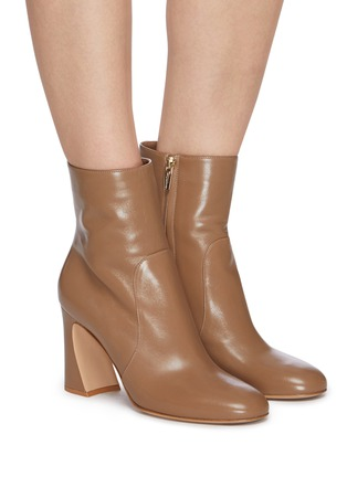 Figure View - Click To Enlarge - GIANVITO ROSSI - Flare heel patent leather boots