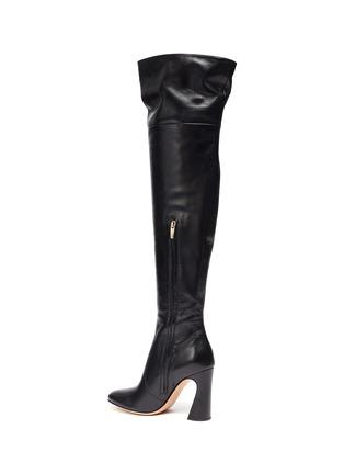 - GIANVITO ROSSI - Sculptural Block Heel Knee High Boots