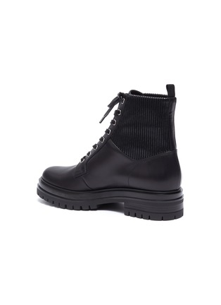 - GIANVITO ROSSI - Leather combat boots