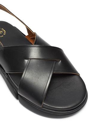 Detail View - Click To Enlarge - ATP ATELIER - Barisci' Slingback Platform Leather Sandals