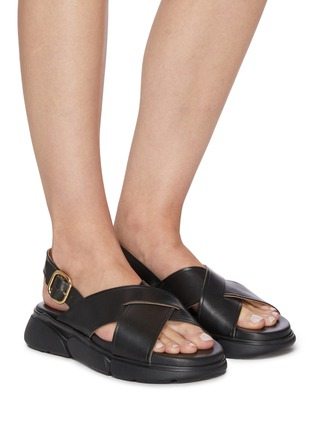 Figure View - Click To Enlarge - ATP ATELIER - Barisci' Slingback Platform Leather Sandals