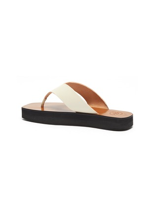 - ATP ATELIER - Melitto' Square Toe Platform Leather Thong Sandals