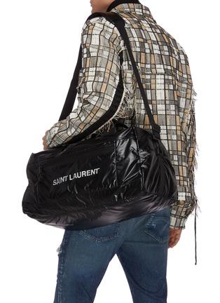 Front View - Click To Enlarge - SAINT LAURENT - Logo print nylon duffle bag