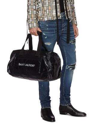 Figure View - Click To Enlarge - SAINT LAURENT - Logo print nylon duffle bag