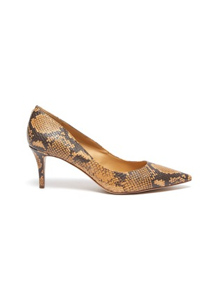 Main View - Click To Enlarge - SAM EDELMAN - 'Jordyn' snake embossed leather pumps