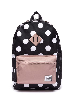 Main View - Click To Enlarge - THE HERSCHEL SUPPLY CO. - Heritage Youth' polka dot print canvas backpack