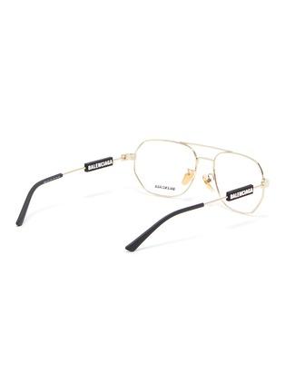 Figure View - Click To Enlarge - BALENCIAGA - Hexagonal metal frame optical glasses