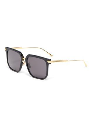 Main View - Click To Enlarge - BOTTEGA VENETA - Acetate frame square sunglasses