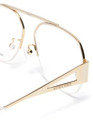 Detail View - Click To Enlarge - BOTTEGA VENETA - Half metal frame optical glasses