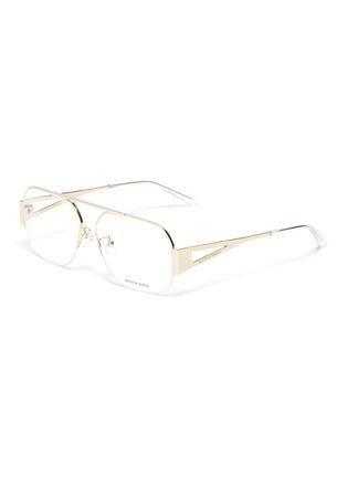 Main View - Click To Enlarge - BOTTEGA VENETA - Half metal frame optical glasses