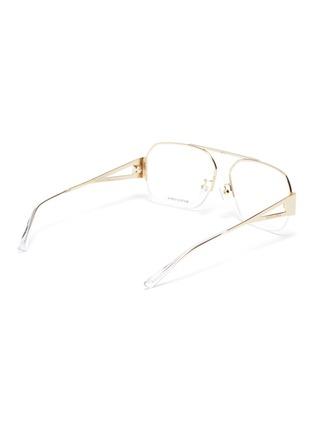 Figure View - Click To Enlarge - BOTTEGA VENETA - Half metal frame optical glasses