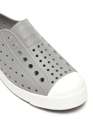 Detail View - Click To Enlarge - NATIVE - 'Jefferson' Perforated Colourblock Kids Slip-on Sneakers